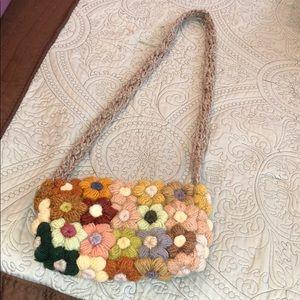 Handbags - Crossbody flower knitted bag